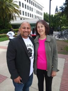 Richard Mireles with Nancy Skinner