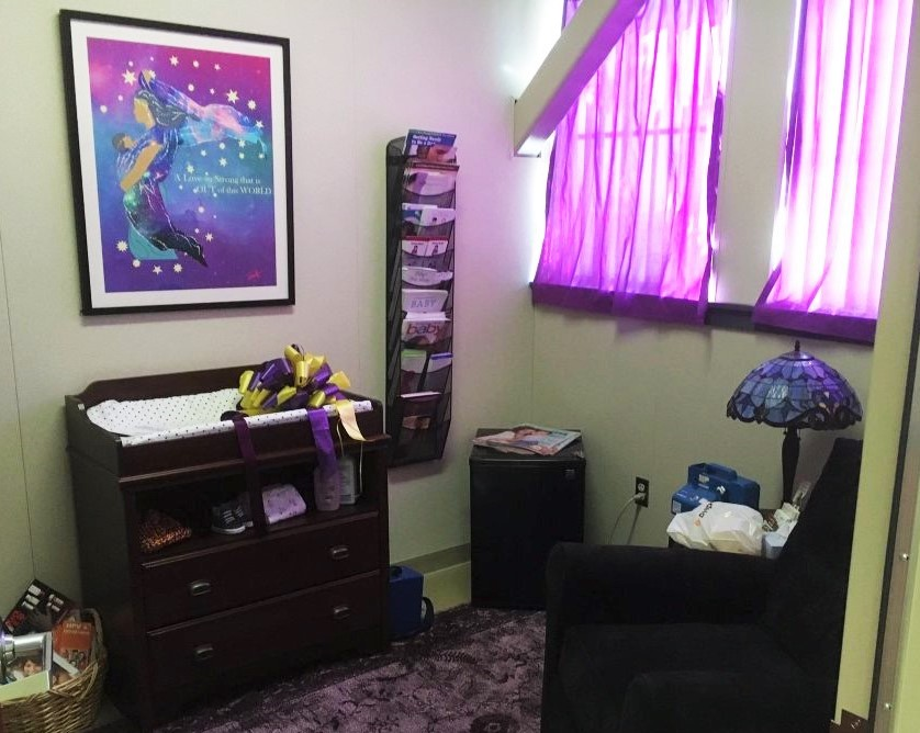 Fresno High School's new breastfeeding room.