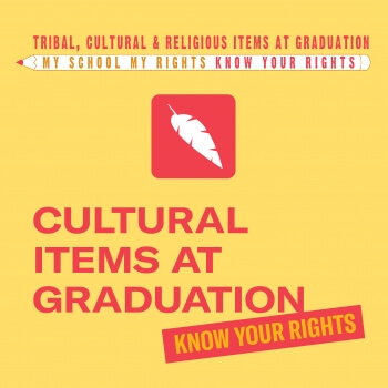 Tribal, Cultural and Religious Items at Graduation