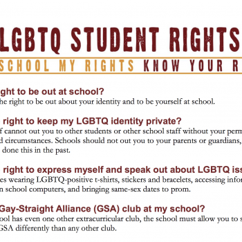 My School My Rights - Know Your Rights