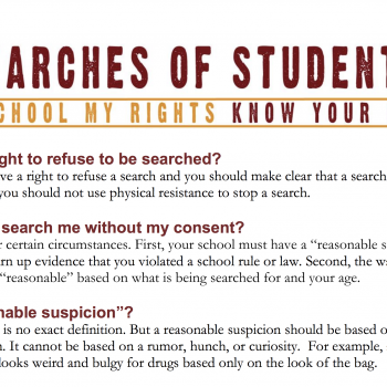 searches of students