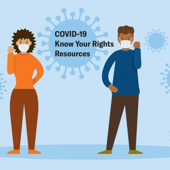 Know Your Right's illustration about COVID 19