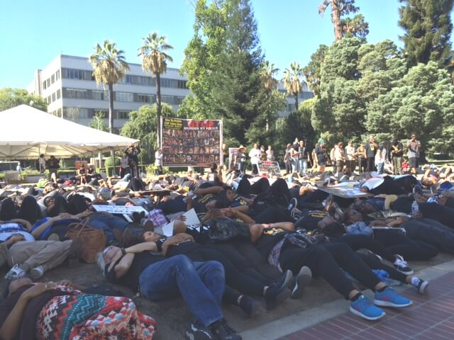 Die-in at California Capitol on September 2, 2015