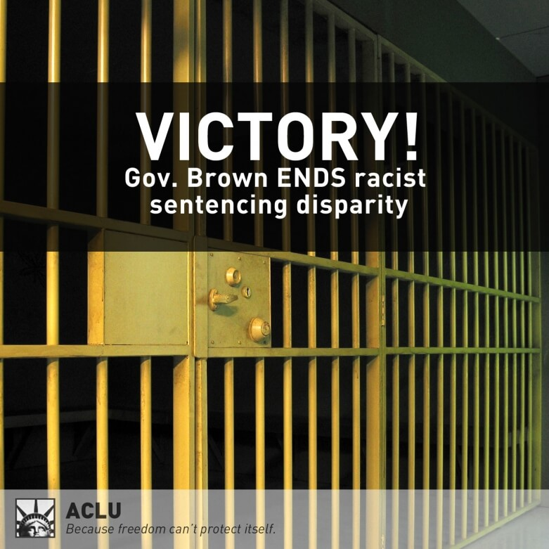 prison bars sentencing disparity victory