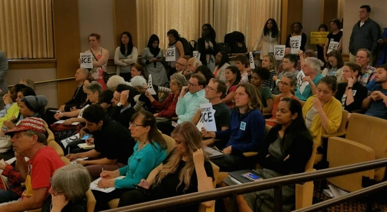 Oakland residents at tonight's packed house committee meeting