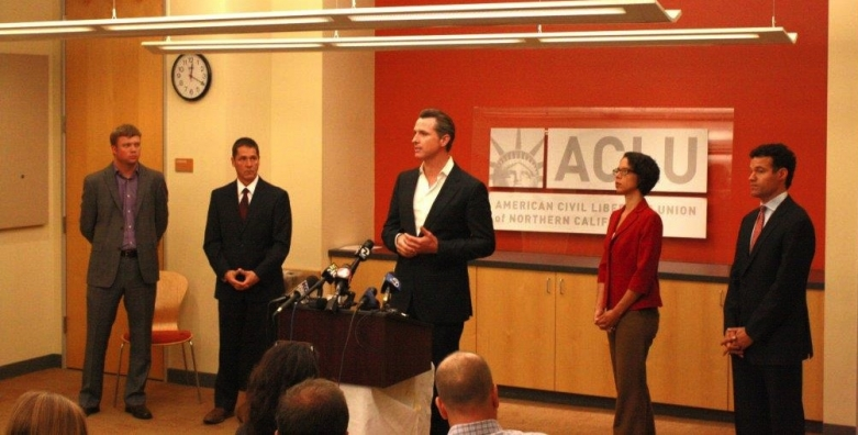 Marijuana legalization press conference at the ACLU of Northern California office