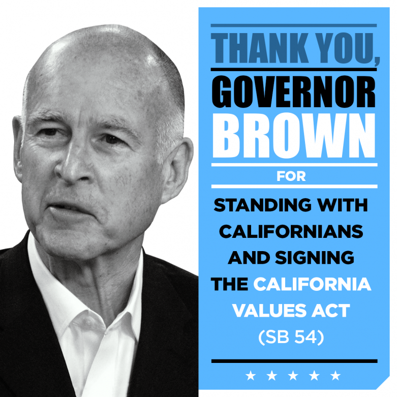 Thank You Governor Brown