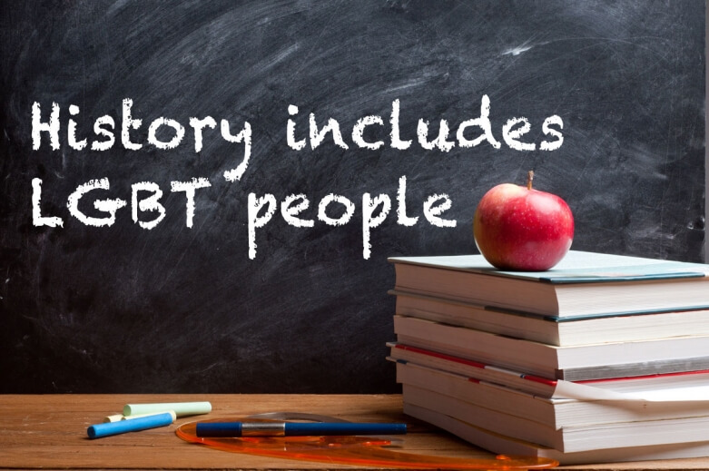 History includes LGBT people