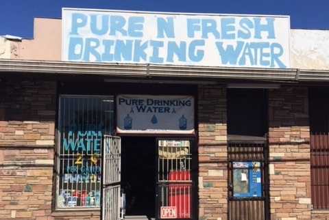 A storefront in California's Central Valley sells clean drinking water