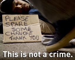 Panhandling is not a crime