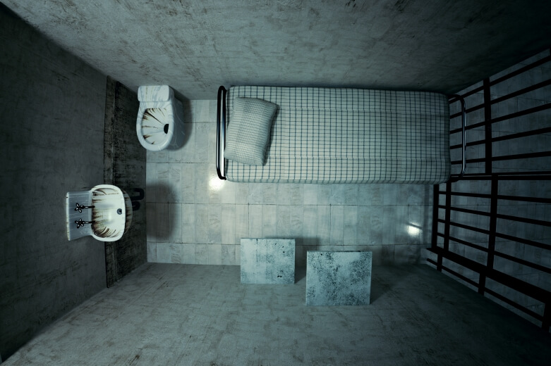 jail cell top view
