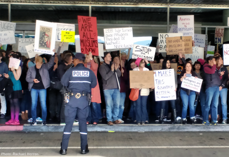 January 2017 - SFO protest by Rachael Herron
