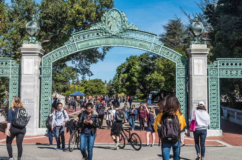 students on campus at UC Berkeley