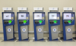 Global entry kiosks at airport