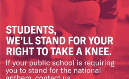 Students. We'll Stand For Your Right to Take a Knee