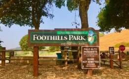 Signage at entrance of Foothills Park