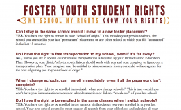 Foster Youth Student Rights
