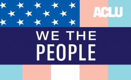 We The People Trans Flag