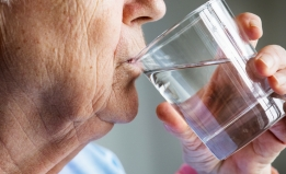 shutterstock image of person drinking water