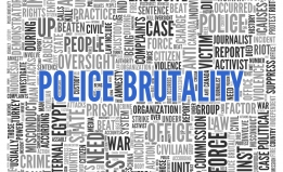 police brutality word map