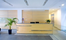 reception area stock image
